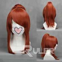 Wholesale heat resistant LY free shipping Sengoku Musou 3 OICHI Brown red Anime Cosplay Party Wig