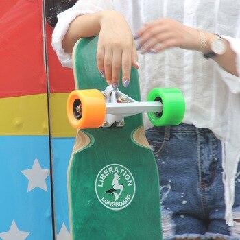цена на Longboard Skateboard Brush Street Dancing board Boys and girls Dance board 4 Children Adult Scooter