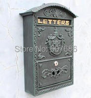 Vintage Decorative Cast Iron Mailbox Postbox Mail Box Wall Mailbox Wall Mount Wrought Iron Letter Box