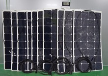 Solarparts kit 10PCS 100W flexible solar panel, 1pcs 20A USB controller,3 sets male/female MC4 connector solar module solar cell