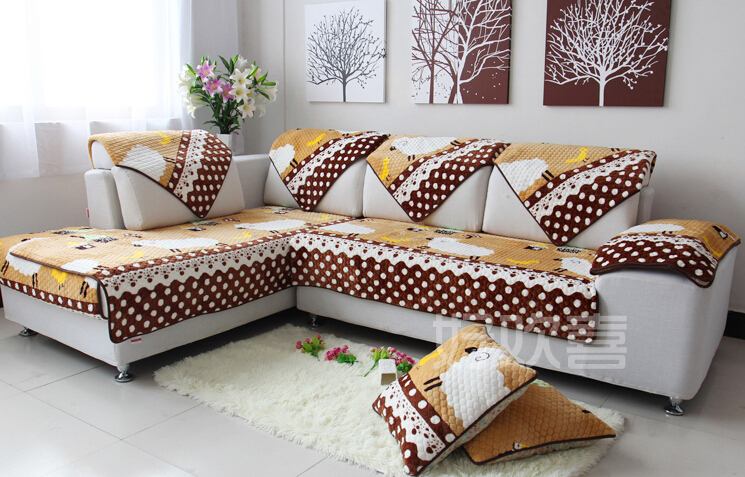 Europe Type Sofa Cushion Pad Cloth Art Sofa Cover Plush