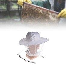 Mosca Mosquito acampar al aire libre sombrero de la abeja apicultura malla  Net cabeza Protector Cap Camping 4453210ad31