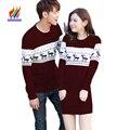 2016 Зима Новый Дизайн Мужчины Женщины Моды Пара Одежда Любители Рождественский Подарок Для Любителей Мило Корейский Соответствующие Пары Свитера