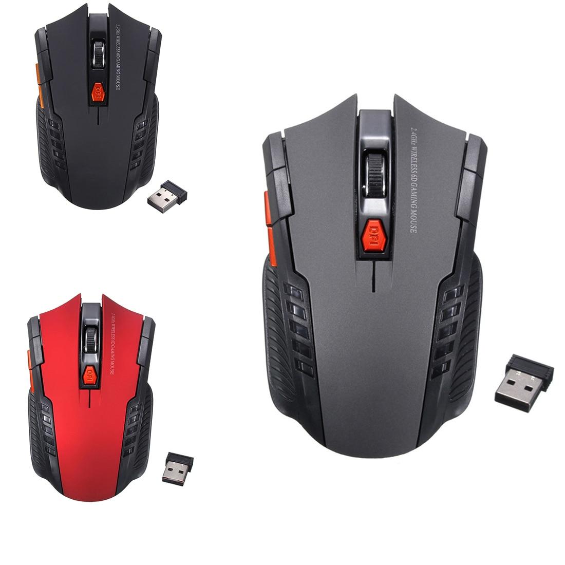 Etmakit  2.4Ghz Mini Portable Wireless Optical 2000DPI Adjustable Professional Gaming Game Mouse Mice For PC Laptop Desktop