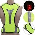 Ultralight 90g Waterproof Reflective LED Vest Led Flash Safety Vest Jacket Outwear Clothing Registered Package Freeshipping