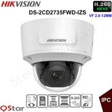 Hikvision 3MP vari-координационного безопасности IP Камера очень низкой освещенности H.265 DS-2CD2735FWD-IZS Купол CCTV Камера 2.8-12 мм face detection