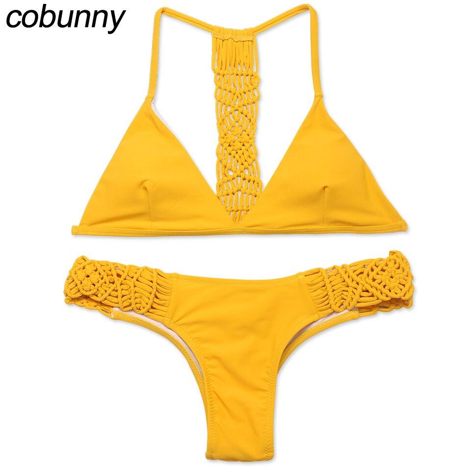 Solid yellow bikini