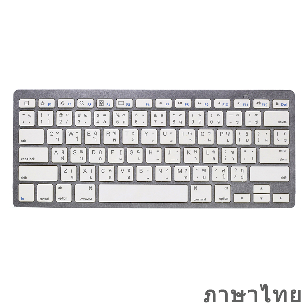 English Thai Mini Bluetooth Keyboard For IPad Pro, IPad Air, Android Tablets, Wireless Keyboard For Laptop, Macbook Pro, Surface