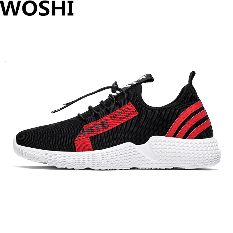 Spring/Summer Comfortable Men Running sports Shoes lightweight breathable sneakers Outdoor Athletic air mesh Sport Shoes w4