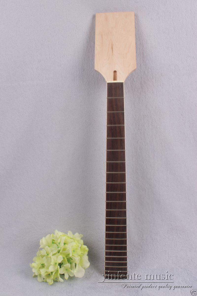 7 string Electric guitar neck 22 fret Maple rose Fretboard Truss Rod Unfinished #874 nut width 44 1 pcs electric guitar neck maple wood fretboard truss rod 22 fret tiger stripes maple neck xylophone