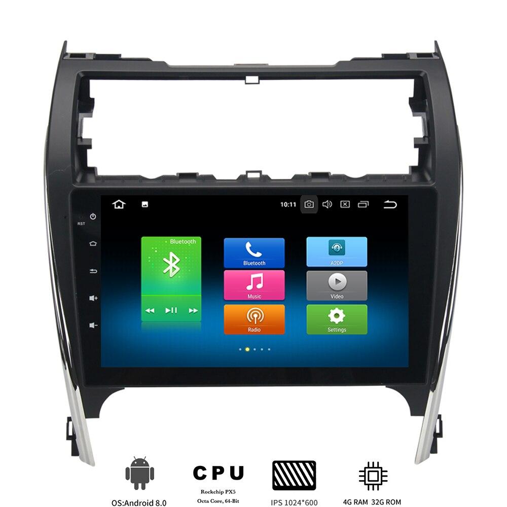 Un din Android 8.0 Autoradio pour Toyota Camry 2012 2013 2014 GPS Navi USA Moyen-Orient Version avec 8-noyaux 4 Gb + 32 Gb IPS écran