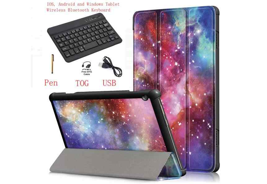 بلوتوث لوحة المفاتيح غطاء لجهاز Lenovo تبويب 4 10 TB-X304F TB-X304N اللوحي لوحة المفاتيح حالة لينوفو TAB4 10 حامل بو الجلود حالة