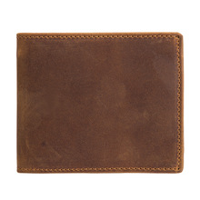 Explosive money retro mens Crazy Horse Leather Multi Function leather wallet short 2 fold head layer cowhide 53030