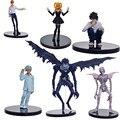 6 unids/set Anime Death Note L Killer Ryuuku Misa Amane Rem PVC Figura de Acción Juguetes Colección Modelo Muñeca Juguetes Para Niños