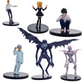 6pcs/set Anime Death Note L Killer Ryuuku Rem Misa Amane PVC Action Figure Juguetes Collection Model Doll Kids Toys