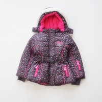 子供/キッズ/女の子防水/防風厚いパッド入りのジャケット