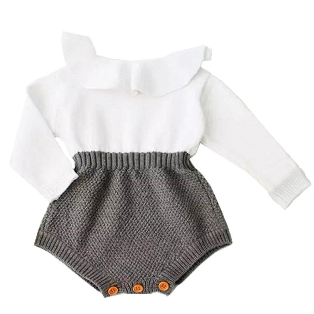 Neugeborenes Baby Kleidung Strampler Wolle Stricken Tops Langarm Strampler Warme Outfits Kleidung Baby Mädchen