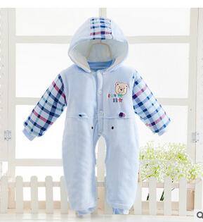 Ja pinza de algodón batas del bebé hombres y mujeres de otoño e invierno gruesa de algodón recién nacido bebé de algodón 2016