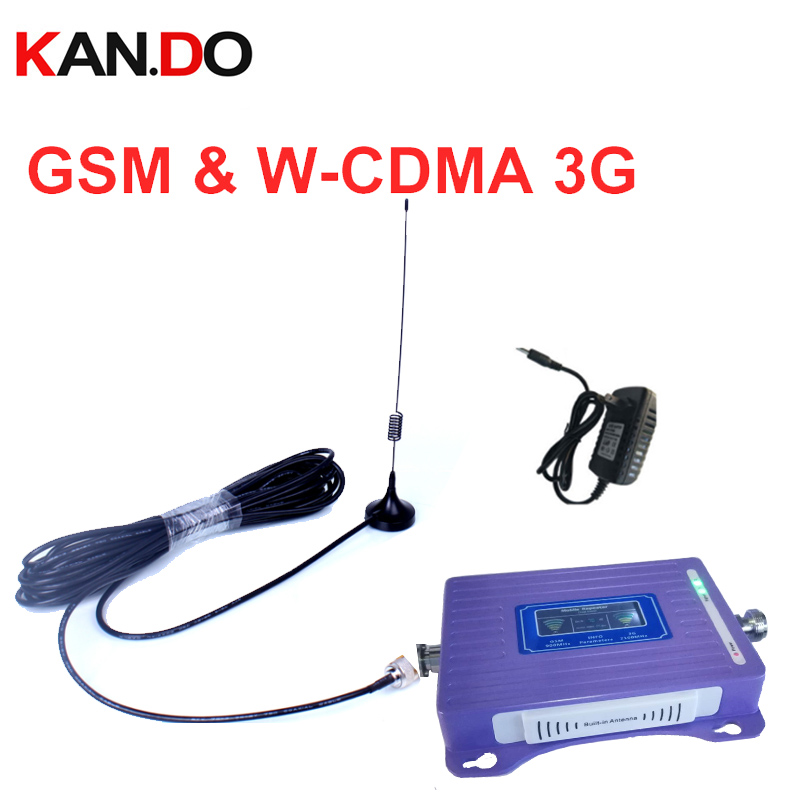 Built-in Antenna 2G+3G Repeater With Cable Antenna LCD Display Dual Bands GSM 3g Booster Repeater GSM 900 2100mhz 3g Booster