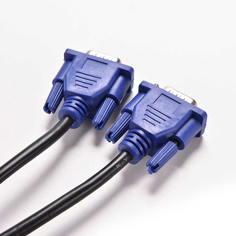 1PC azul 1,5 M 5FT 15 PIN VGA HDB15 SUPER SVGA VGA M/M Conector macho a macho Cable de extensión de Cable de Monitor de PC TV