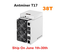 BITAMAIN Newest BTC BCH Miner AntMiner T17 38TH/S With PSU Better Than S17 Pro S15 S11 S9 T15 Innosilicon T3 WhatsMiner M3X M20S