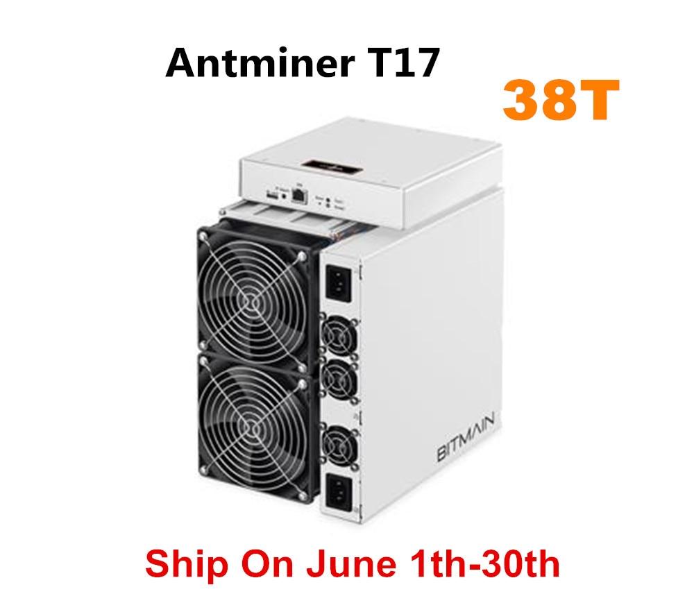 BITAMAIN date BTC BCH mineur AntMiner T17 38TH/S avec PSU mieux que S17 Pro S15 S11 S9 T15 Innosilicon T3 joyeusminer M3X M20S