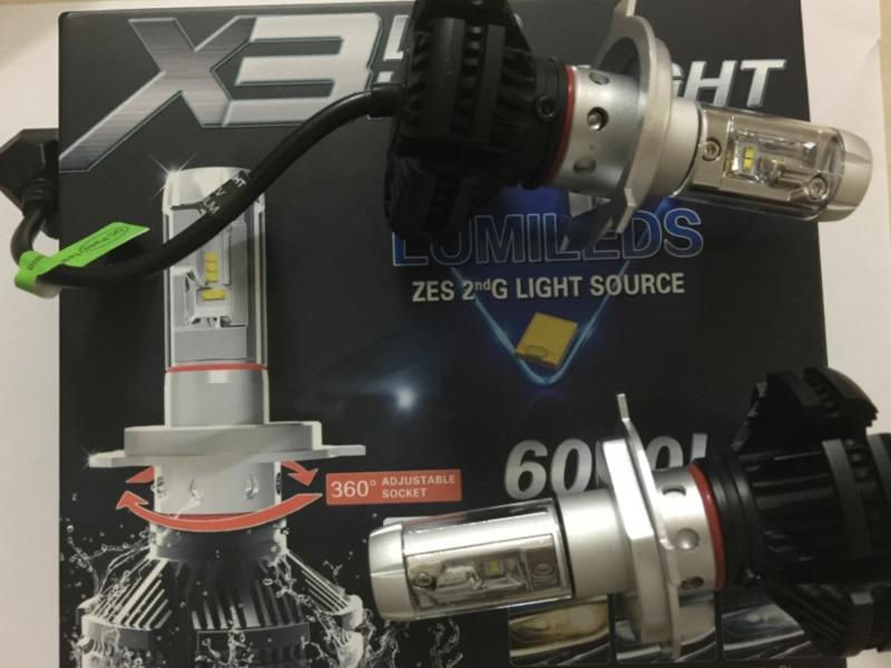 X3 LED Headlight X3 Car Headlamp Auto Lamp Bulb Car Light H1 H3 H4 H7 H8  H9 H11 9005 9006 9012 9004 9007 H13 3000K 6000K 8000K