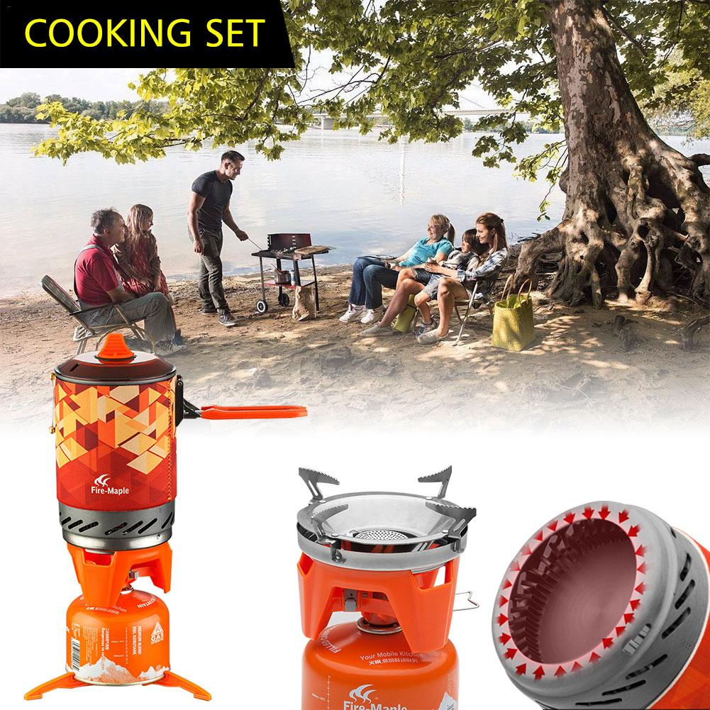 Fire Maple Fixed Personal Cooking System Outdoor Hiking Camping Equipment Oven Portable Propane Gas Stove Burner green portable solar oven bag cooker sun outdoor camping travel emergency tool for cooking solar oven bag mayitr