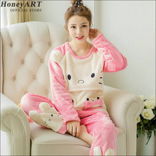 Pajamas suit in the fall and winter for maternity Thickening lactation clothes  Postpartum mothers nursing dress suit DD373z