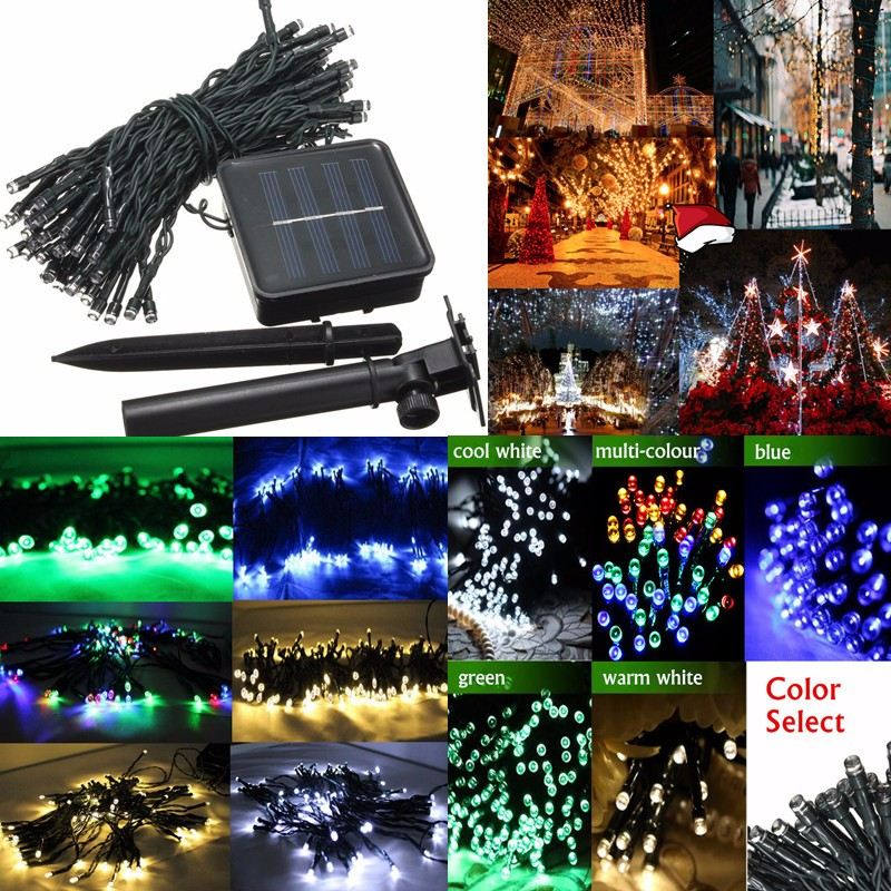 Smuxi Solar Strings Light Lamp 8M LED ChristmasLights 6V Fairy String Lights Led Outdoor ...