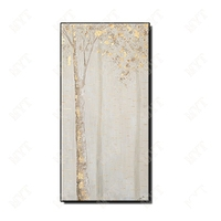 Newest High Quality Abstract gold trees and leaves Oil Painting on Canvas Handmade wall art picture for living room no framed