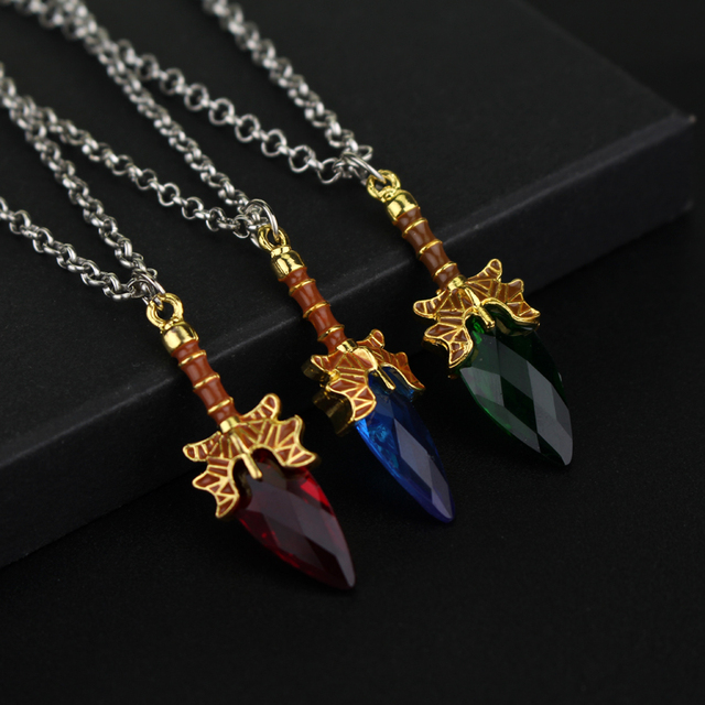Dota 2 Necklace Aghanim's Scepter Necklace Pendant For Dota 2 Fans Gifts