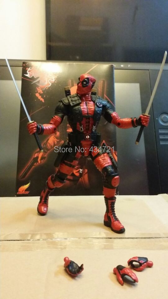 Hot Sale Fire Toy Deadpool Wade Wilson Figure Toys Marvel Classic Superhero 10 PVC Figure Toys New In Box protective silicone back case for samsung galaxy s5 i9600 milky white