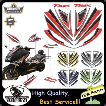 12pcs/Set 2017 Newest Design Stickers Decal 3D COMPATIBLE for YAMAHA TMAX 530 Y FRONT T MAX dal 2015 Мотоцикл