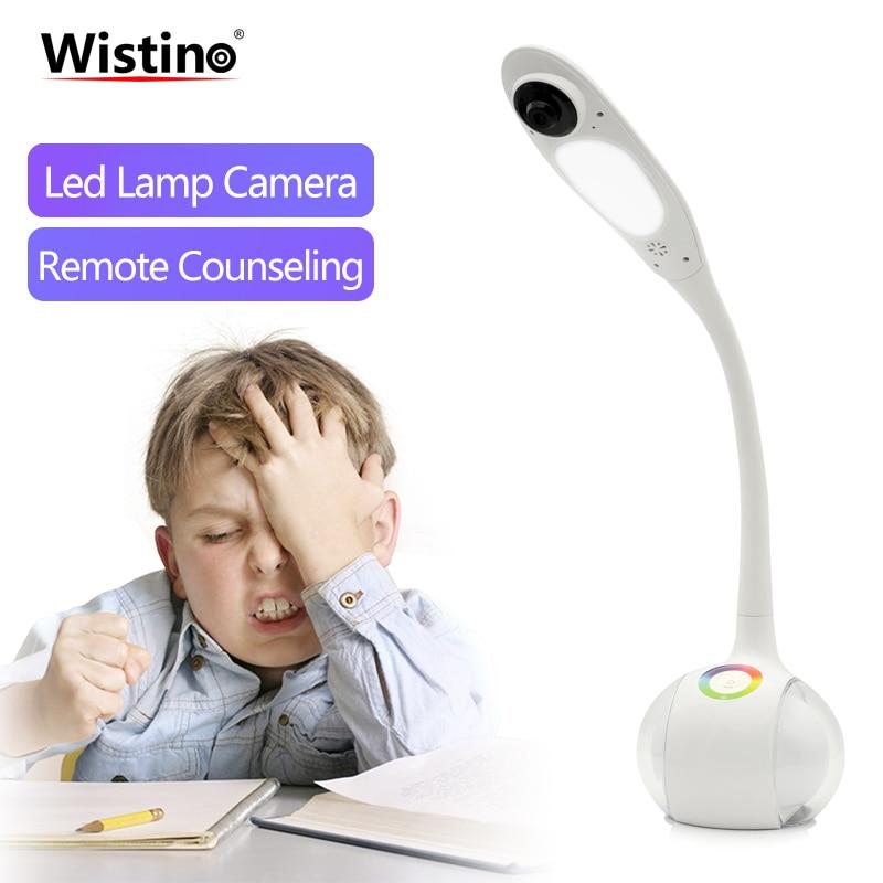 Wistino 720 P WiFi lampe de Table caméra intelligente maison lumière LED bureau caméra sans fil CCTV sécurité IP caméra vidéo bébé moniteur à distance