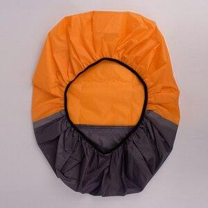 Image 2 - 10L 70L Portable lumière réfléchissante étanche à la poussière sac à dos couverture de pluie ultra léger épaule protéger outils de plein air sac de randonnée