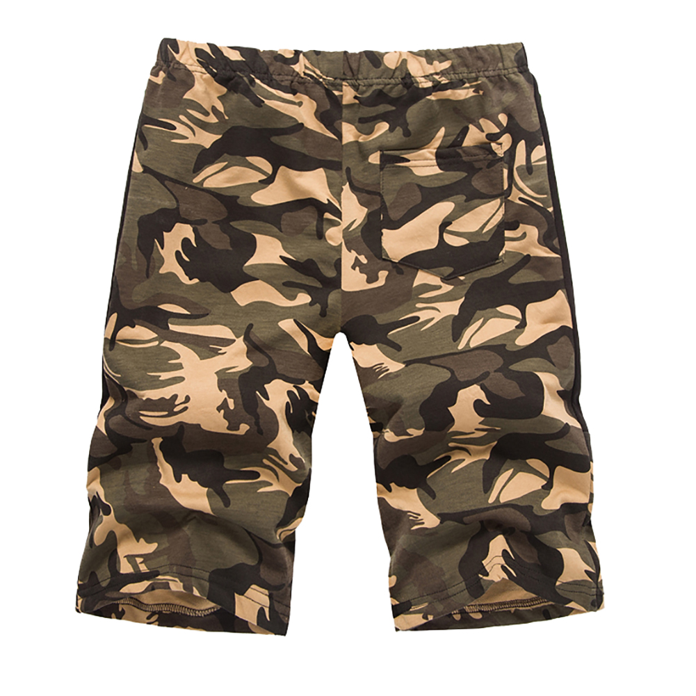 Men's Casual Loose Camouflage Print Outdoor Cargo Shorts Summer Trousers Gift