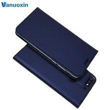 Huawei Onur için deri Vakası 7C (5.7 inç) kılıf Coque sFor Fundas Huawei Onur 7C AUM-L41 RU Mıknatıs cüzdan kılıf Telefon kabuk
