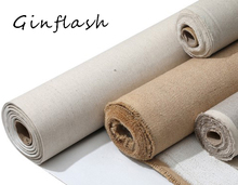 Linen Blend Primed Blank Canvas High Quality Layer Oil Painting Canvas acrylic painting 1m One Roll ,28/48cm Width