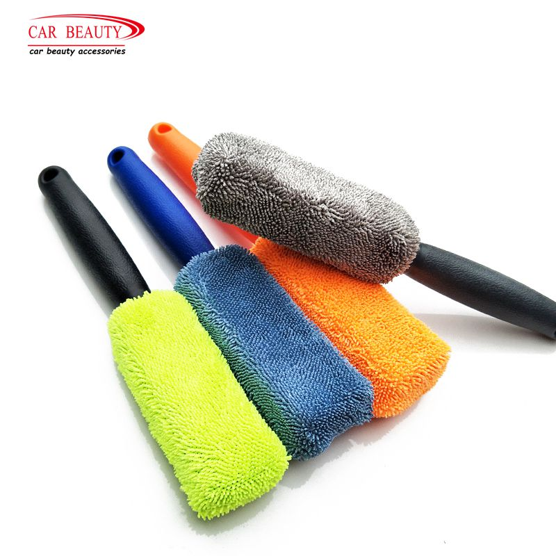 1Pc Microfiber Wheel & Rim Brush For Car Trunk Motorcycle Bike Car Tire Engine Washing Tool Detailing Cleaner