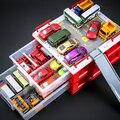 Вытяните Назад Модель Автомобиля 10 шт. Автомобилей + Автостоянка Игрушки для Детей Мальчик Подарки Автомобили Игрушки Устанавливает Детям Играть игрушки