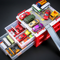 Pull Back Car Model 10pcs Cars + Parking Lot Toys for Children Boy Gifts Vehicles Toys Sets Kids Play Toys