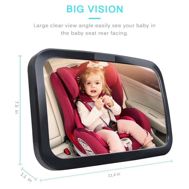 3-Зеркало для детского автомобиля, безопасное детское сидение зеркало для заднего вида младенца с широким кристально чистым видом, небьющеес... смотреть на Алиэкспресс Иркутск в рублях