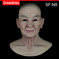 SF-N9 silicone true people mask costume mask human face mask silicone dropshipping