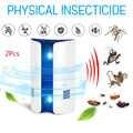 2 Pcs Elettronico Ad Ultrasuoni Mosquito Repeller Repellente Del Mouse Assassino Del Mouse Scarafaggio Trappola Insect Topi Ragni di Controllo Dei Parassiti