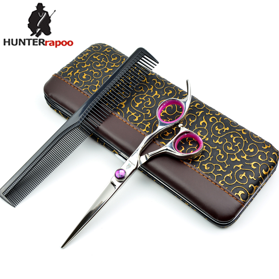 Free Shipping HT9160 Best Purple Hair Cutting Scissors barber Styling beauty hairdressing shears for haircut Bangs tools 6.0inch