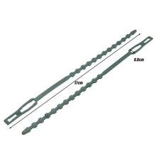 50 шт. регулируемые пластиковые кабельные стяжки для растений многоразовые самоблокирующиеся кабельные стяжки для садов, деревьев, скалолазания, 17x0,8 см
