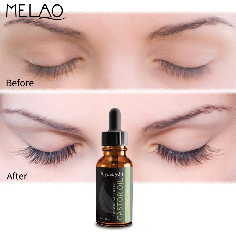 e1f5b5845ff MELAO Hair Growth Essential Oil 100% Pure Castor Oil Calm Prevent Skin  Aging Organic Eyelash Enhancer Eyelash Growth Serum 30ml-in Essential Oil  from Beauty ...