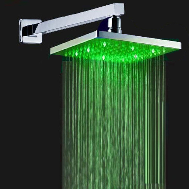 Superfaucet LED Shower Head,Shower Head With Arm,Powerful LED,Rainfall  Shower Set