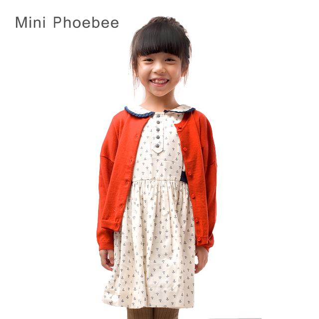 Merino de lana 2-8 años de muchacha cardigans suéteres para niñas niño pequeño niños de lana de Punto suéteres cardigans azul rojo cdk001